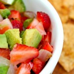 Strawberry Avocado Salsa with Cinnamon Sugar Chips