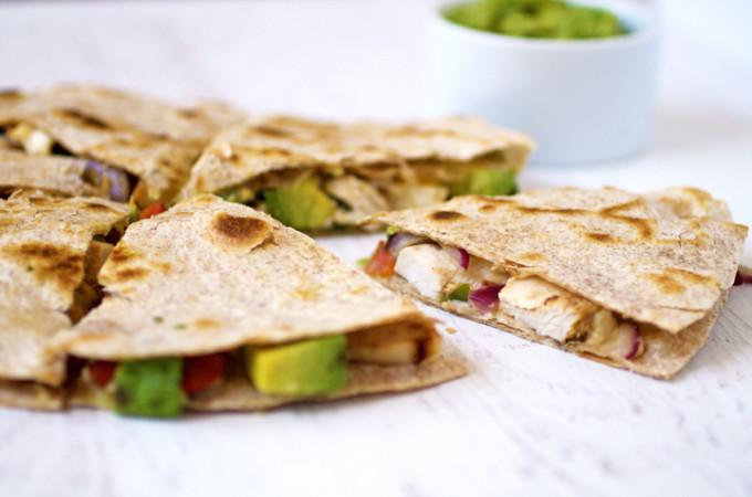 Gluten Free Clean Chicken Quesadillas