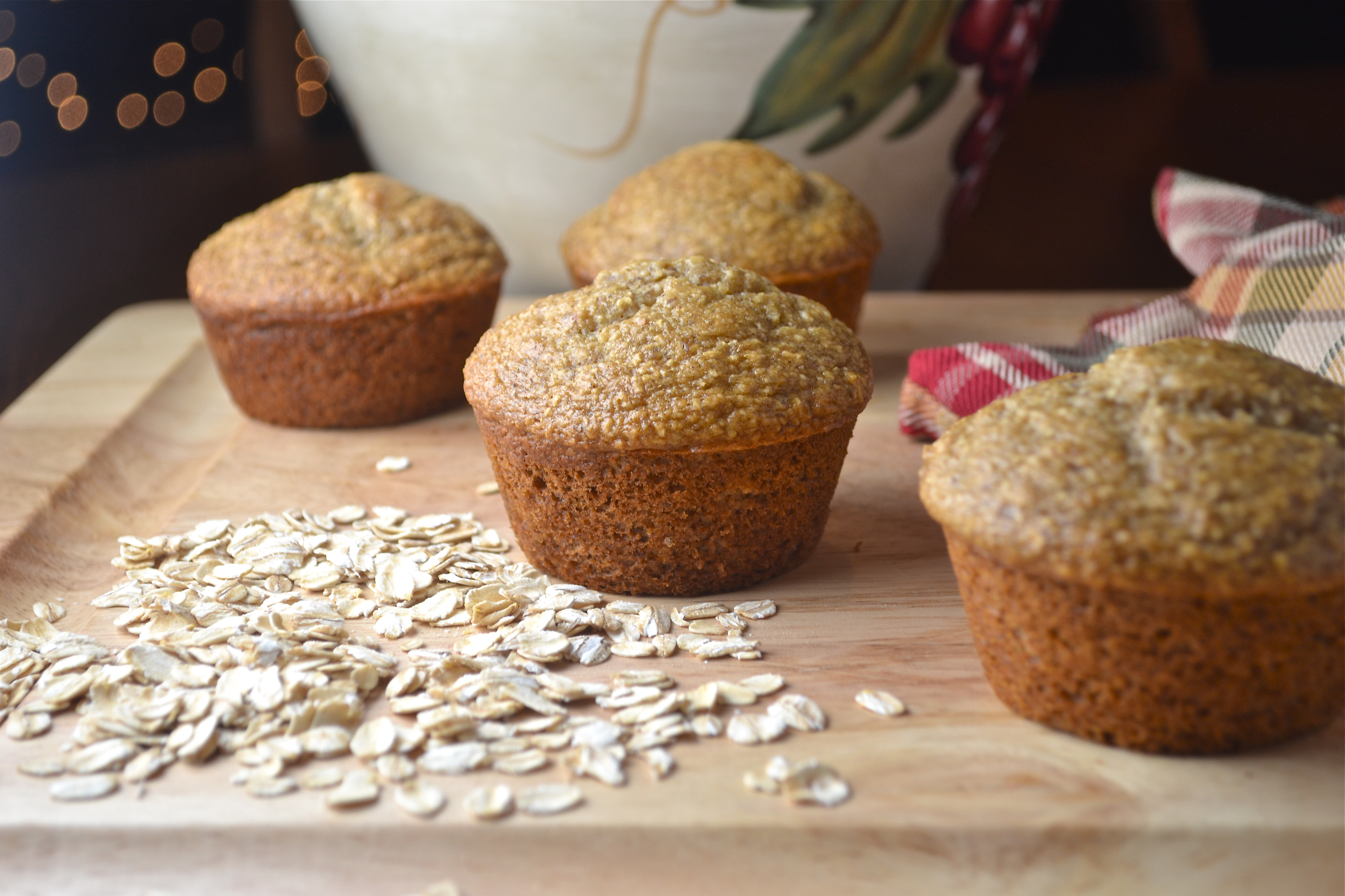 Banana Oatmeal Flax Muffins - Spinach For Breakfast