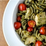 Gluten Free Pesto Pasta with Grilled Chicken