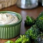 Roasted Broccoli with Tahini Dip