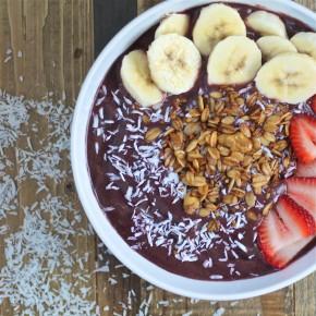 Strawberry Banana Acai Bowl