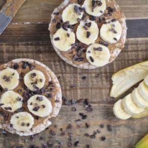 Almond Butter & Banana Rice Cakes