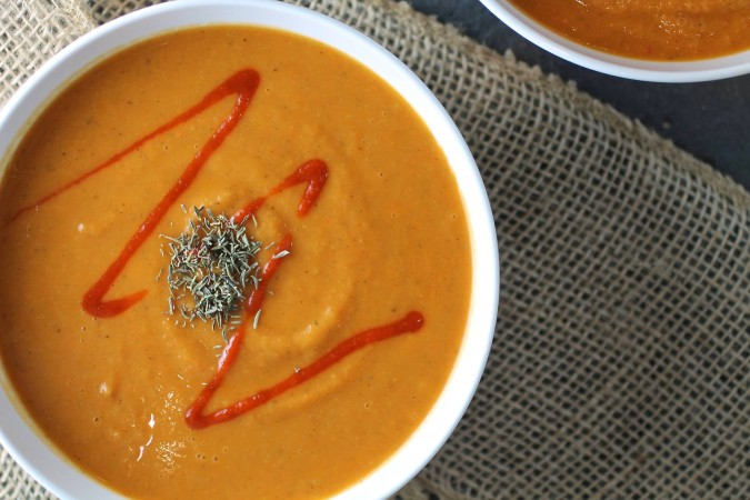 Spicy Roasted Red Pepper Soup