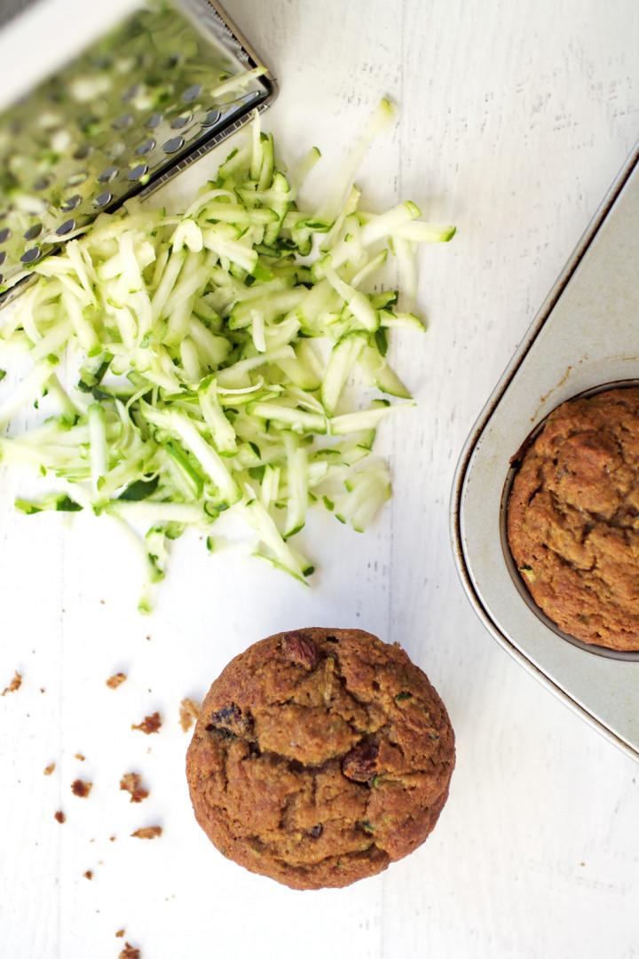 Gluten Free Zucchini Raisin Muffins