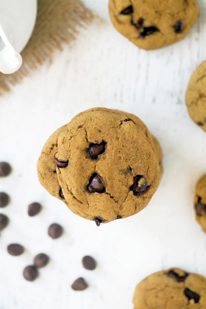 Gluten Free Pumpkin Chocolate Chip Cookies