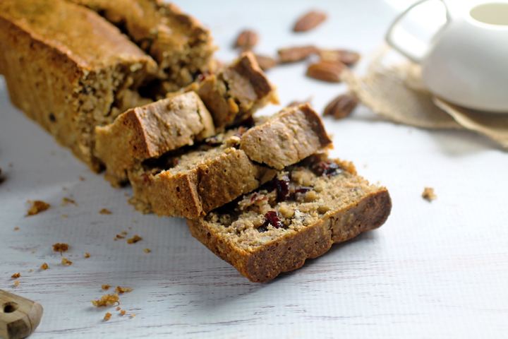Gluten Free Cranberry Pecan Banana Bread - Spinach For Breakfast