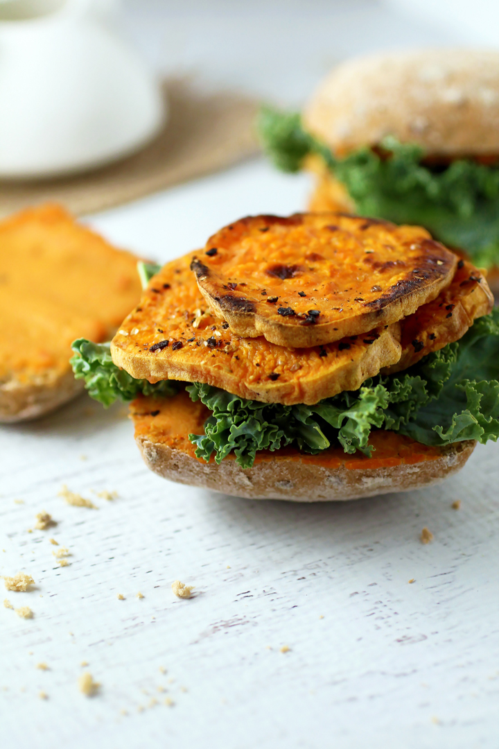 Kale and Sweet Potato Sandwich