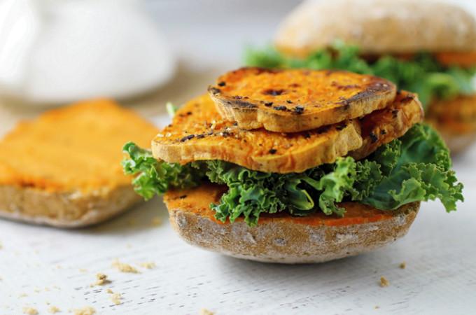 Kale and Sweet Potato Sandwich