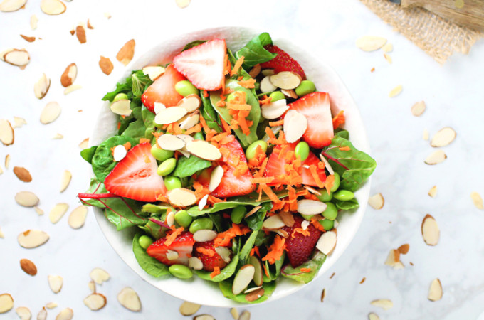 Summer Strawberry and Edamame Salad