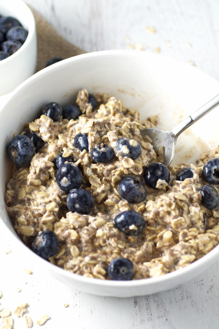 Blueberry Pie Overnight Oats