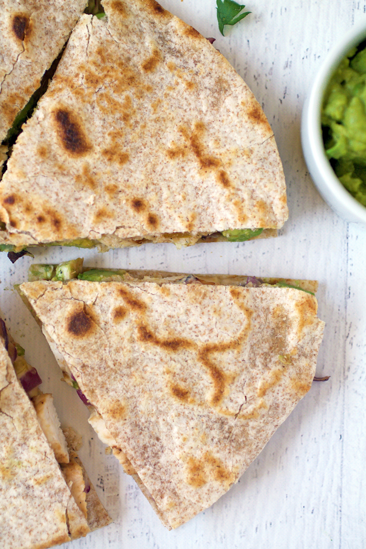Gluten Free Clean Chicken Quesadillas
