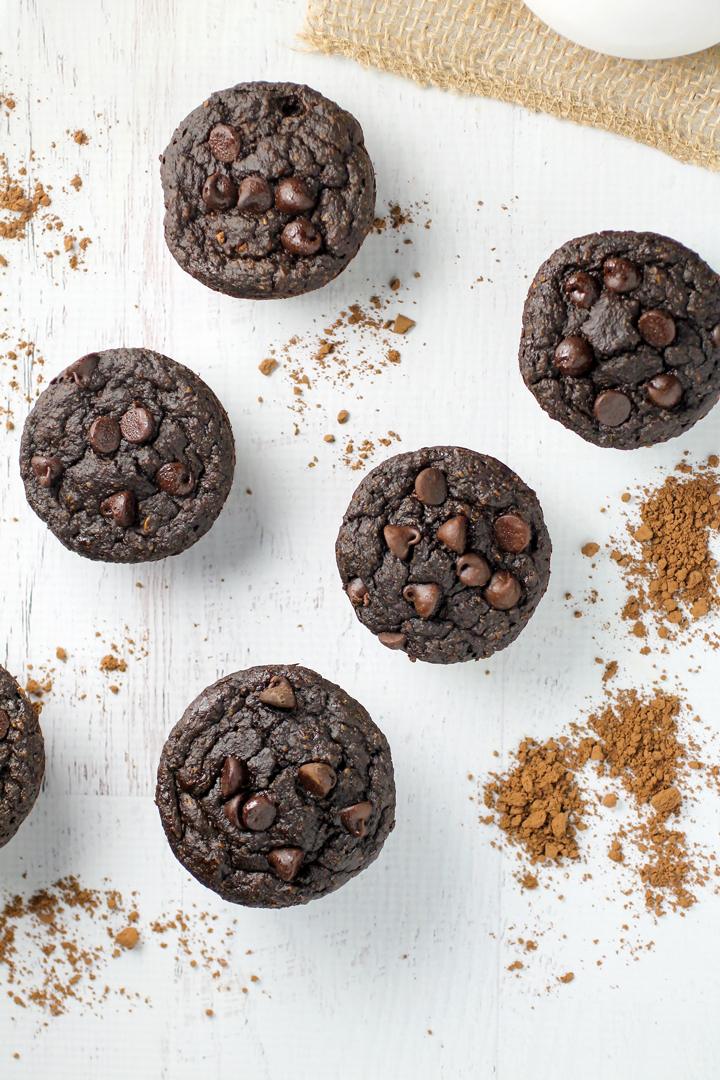 Gluten Free Chocolate Spinach Muffins