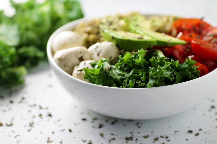 Caprese Quinoa and Avocado Bowl