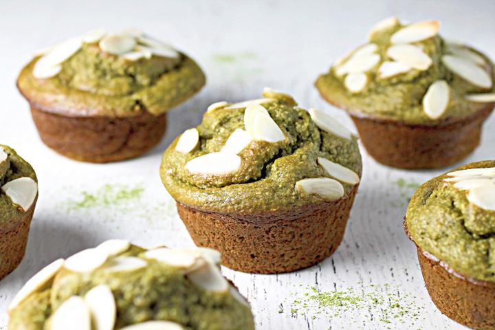 Gluten Free Matcha Muffins